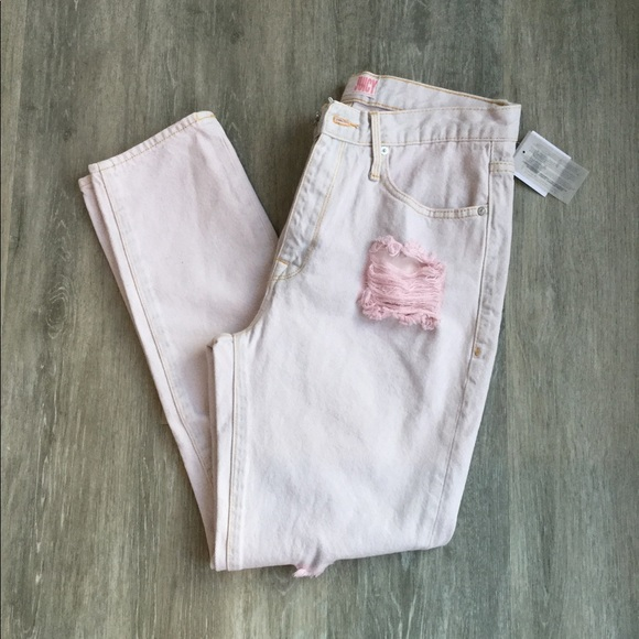 Juicy Couture Pink Pigmented Girlfriend Jeans